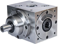 Bevel gearbox with hollow shaft